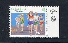 1990 Sports Series II  MUH $1 Fun Run - 1 Kangaroo 1 Koala (Right)