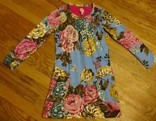 The Tom Joule Circus Jr. Arielle Blue Floral Smocked Dress 8 EUC Little Joules