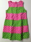 Toddler Girl Patsy Aiken Pink Green Polka Dot Shift Dress Summer Size 3/3T