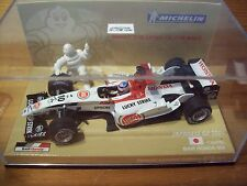 Bar 1/43 2004 Honda 006 Takuma SATO MICHELIN BOX LUCKY STRIKE stickers GP JAPON