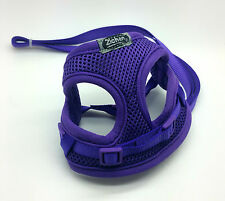 XXS PURPLE DOG HARNESS LEAD SET TEACUP CHIHUAHUA YORKIE PUPPY TEACUP  CAT RABBIT