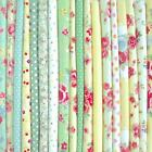 GREEN YELLOW - BIG BUNDLE NEW 100% COTTON FLORAL FABRIC REMNANTS OFFCUTS
