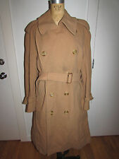 VINTAGE AUTH BURBERRY PRORSUM LONDON CAMELHAIR WOOL BLEND TRENCH COAT