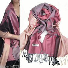 New Fashion Women's Lotus Flower Warm Pashmina Shawl Wrap Stole Cashmere Scarf
