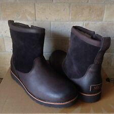 UGG HENDREN TL STOUT BROWN WATERPROOF LEATHER SHEEPSKIN BOOTS US 10 MENS