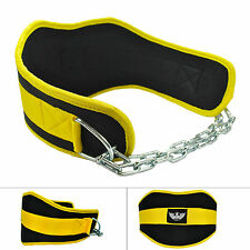 UK Warrior Neoprene Heavy Dipping Dip Belt Pull Up Weight Lifting Chain Train