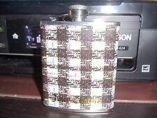 Juicy Couture Stainless Steel Flask - Limited Edition Houndstooth 7 oz Gift New