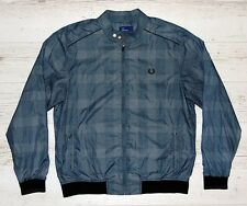 FRED PERRY BLUE WINDBREAKER JACKET SIZE L LARGE VERY GOOD CONDITION!!!