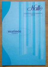 Halle Matinee Classics programme Sunday 29th December 1996 Manchester