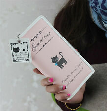 Fashion Cute womens cat Leather purse clutch wallet long card holder mobile Bag