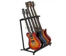 5 Five Multiple Guitar Bass Stand Holder Stage Folding Multi Rack Hot