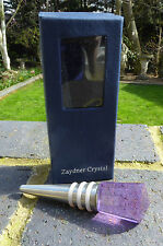 WINE BOTTLE STOPPER BY ZAYDNER CRYSTAL - LILAC CRYSTAL  - BOXED