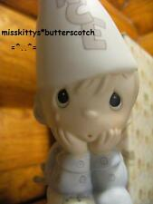 Precious Moments~Nobodys Perfect~$113~Boy With A Dunce Cap~E9268~Slingshot~cross