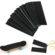 12 Pcs Wooden Fingerboard Deck Uncut Sandpaper  Grip Tape Stickers 110mm x 35mm
