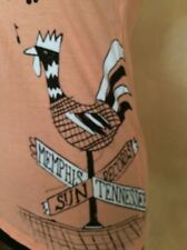 Rock  Steady Clothing Peach Sun Records Rooster V-neck T-Shirt XL