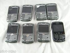 LOT OF 8 ATT  BLACKBERRY CURVE CELLULAR PHONES NOT WORKING FOR PARTS ONLY