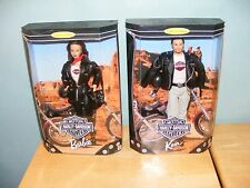 1998 Collector Edition Barbie Ken #22256 & 22255 HARLEY DAVIDSON CYCLES NEW NRFB