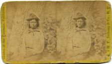 Paiute Indian, E & H.T. Anthony & Co. stereoview # 123 (1860s) Paiute Indian