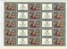 TIMBRE RUSSIA RUSSIE / FEUILLE N° 4522 **  15 TIMBRES / PEINTRE PETROV VODKINE