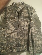 Men's US Army Military ACU Shirt Button Front》Large Reg》Height 67-71 Chest 41-45