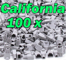 Lot 100 x set RJ45 Connector Cat5 Modular End Cap Boot Head Plug Cat6 Cable 5E