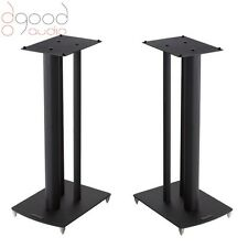 Mission STANCETTE Speaker Stands Black Finish, With Spikes 590mm Tall (BLACK)