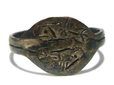 ANTIQUE ASIAN ORIENTAL CHINESE GOLDFISH STERLING SILVER ESTATE RING BAND SZ6.25