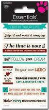Scrapbooking Stickers Sandylion Crafts Inspirational Phrases Your Life Time Now