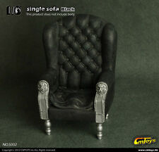 "1/6 Scale CMToy Black Single Sofa Chair Furniture Model For 12"" Action Figure"