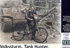 Masterbox German Tank Hunter Soldier military bicycle MG Fahrrad 1:35 Panzerfaus