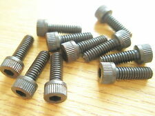 "8-32 UNC x 1/2"" ALLEN CAPHEAD BLACK STEEL SCREW Qty 10"