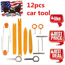12pcs Auto Car Radio Door Clip Panel Trim Dash Audio Removal Installer Pry