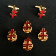 33rd Degree I.G.H. Shirt Stud & Cuff Link Set  (33-SSCL)