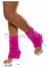 Womens Ladies Party Legwarmers Knitted Neon Dance 80s Costume 1980s Leg Warmers