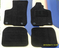 AUDI A3 1996 - 2002 BLACK TAILORED CAR MATS WITH 4 RETAINING CLIPS SET OF 4