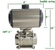 2inch Pneumatic Double Acting Air Actuated Ball Valve Ball Check
