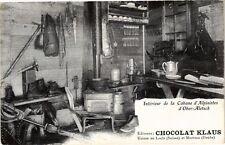 CPA MORTEAU - Chocolat Klaus, Interieur de la Cabane d'Alpinistes (175772)