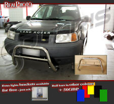 LAND ROVER FREELANDER 98-03 BULL BAR WITHOUT AXLE BARS +GRATIS! STAINLESS STEEL!