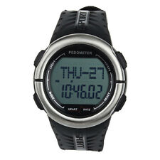 Pedometer Calories Counter Pulsometer Heart Rate Monitor LED Sport Watch Hoc