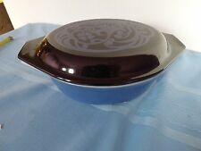 "Pyrex ""midnight bloom"" 1 1/2 qt casserole rare promotional excel cond."
