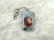 Year of the Rooster 2017 Keychain Altered Art Domino Christmas Swag Eco Epic