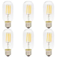 6x E27 T45 LED Edison Glühbirne 4W Dekorative Vintage Glühfaden Deko Birne 2300K