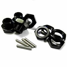 T10091 1/8 RC Buggy M17 17mm Alloy Wheel Hubs Adapter Nut Pin Black x 4