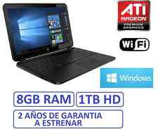 "Ordenador portatil HP 15"" 8Gb RAM , HD 1Tb, HDMI ATI RADEON R2 1696MB, WINDOWS"