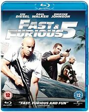 Fast & Furious 5 Blu-ray Dwayne Johnson and Vin Diesel New UK Release RB