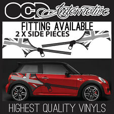 BMW CLASSIC MINI SIDE STRIPES GRAPHICS DECALS STICKER KIT NOT UNION JACK JCW S 7