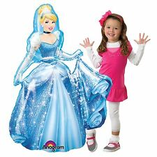 4ft Giant Disney's Cinderella AirWalker Foil Balloon Princess Party Life Size BN