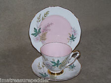 Queen Anne England Bone China Louise Trio Cup Saucer Plate