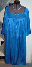 blue waltz length nightgown gown  by Only Necessities  1X  XXL  100%  nylon.