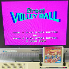 GREAT VOLLEYBALL SEGA markIII Cart Only Japan Import Sports MASTER SYSTEM mark3